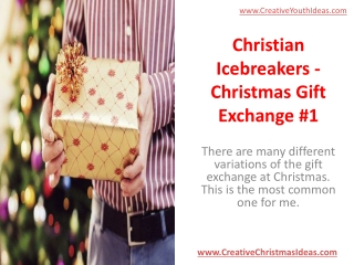 Christian Icebreakers - Christmas Gift Exchange