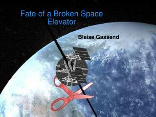 fate of a broken space elevator
