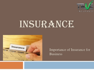 Insurance-Importance of Insurance for Business