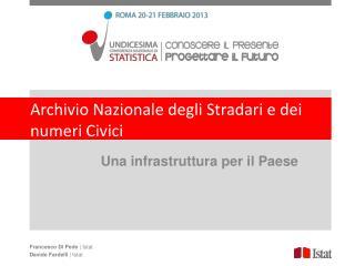 Archivio Nazionale degli Stradari e dei numeri Civici