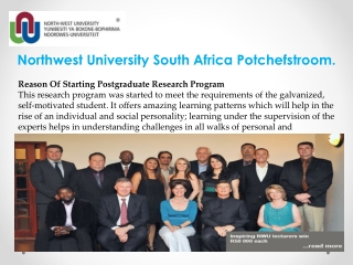 Northwest University South Africa Potchefstroom.