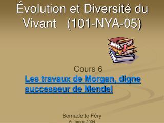 volution et Diversit  du Vivant   101-NYA-05