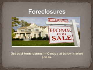 Foreclosures Listing