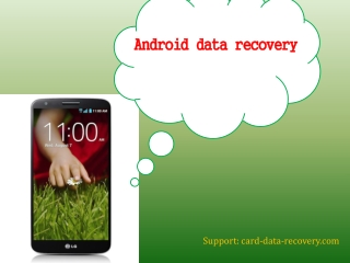 How to recover lost data from Android phone