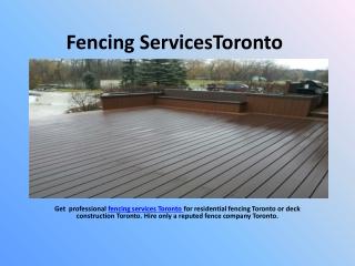 Fencing Services Toronto