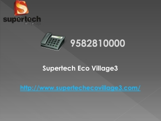 Supertech Eco Village Noida