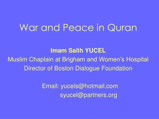 war and peace in quran