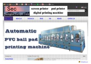 screen printer machine