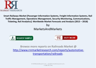 Smart Railways Market 2013 Analysis