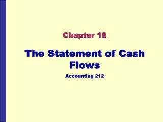 The Statement of Cash Flows Accounting 212