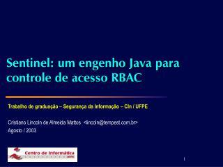 Sentinel: um engenho Java para controle de acesso RBAC