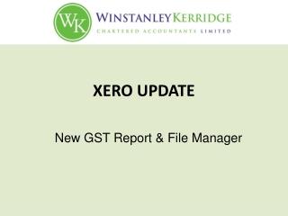 Xero Update