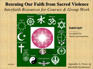 Rescuing Our Faith from Sacred Violence Interfaith Resources for Courses  Group Work