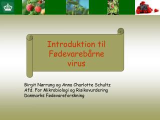 Introduktion til F devareb rne virus