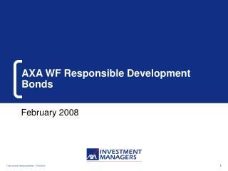 AXA WF Responsible Development Bonds