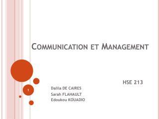 Communication et Management