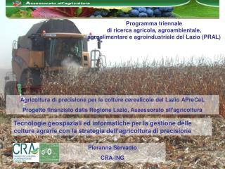 Programma triennale  di ricerca agricola, agroambientale,  agroalimentare e agroindustriale del Lazio PRAL