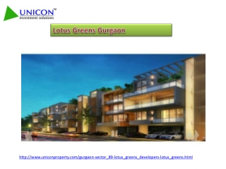Lotus Greens Gurgaon, Project In Sector 89, Call 09999561111