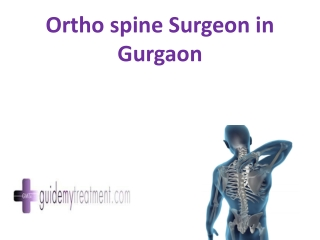 ortho spine Surgeon in Gurgaon