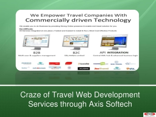 Craze of Travel Web Development Services through Axis Softec