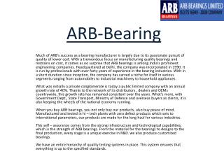 ARB-Bearings-Limited