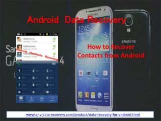 How to recover android contacts