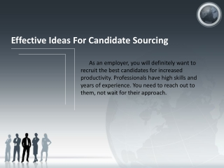 Effective Ideas For Candidate Sourcing