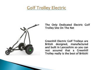 Golf Trolley Electric