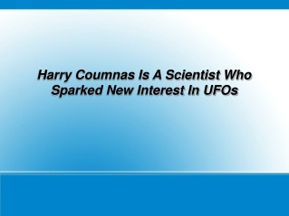 Harry Coumnas Is A Scientist