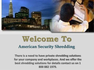 Confidential Shredding Services
