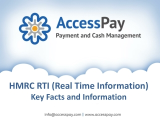 HMRC RTI � Key Facts and Information