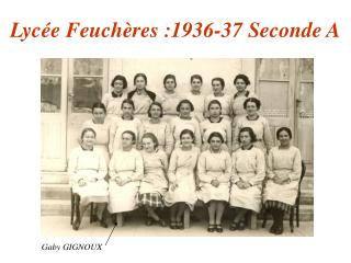 Lyc e Feuch res :1936-37 Seconde A