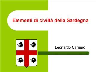 Elementi di civilt  della Sardegna