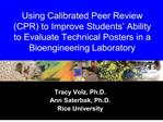 using calibrated peer review cpr to improve students
