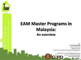 EAM Master Programs in Malaysia: An overview