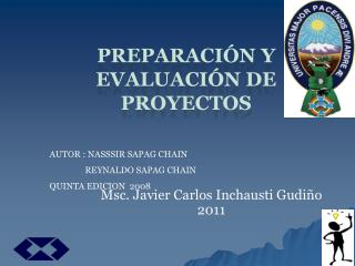PREPARACI N Y EVALUACI N DE PROYECTOS