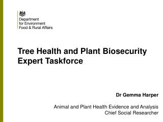 Tree Health and Plant Biosecurity Expert Taskforce