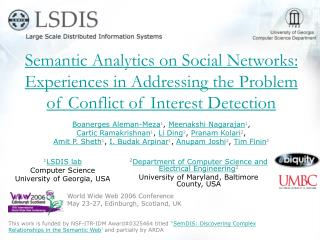Semantic Analytics on Social Networks: Experiences in Addressing the Problem of Conflict of Interest Detection