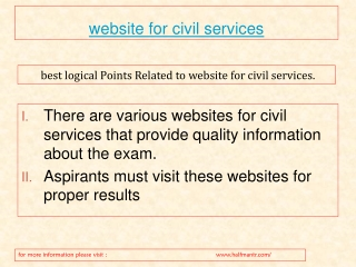 The best knowledge guide about website for civil services