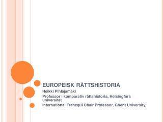 Europeisk r ttshistoria
