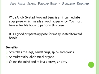 How To Do Wide Angle Seated Forward Bend