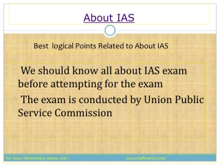 All you wanted to know about IAS exam