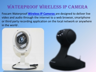 Waterproof Wireless IP Camera