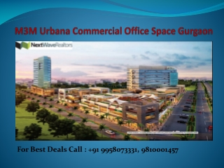 M3M Urbana Commercial Project Sector 67 Gurgaon