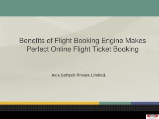 Benefits of Flight Booking Engine Makes Perfect Online Fligh