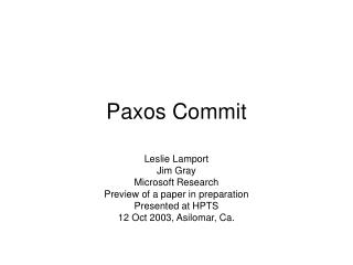 paxos commit
