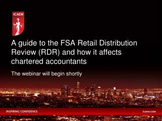 A guide to the FSA Retail Distribution Review RDR and how it affects chartered accountants