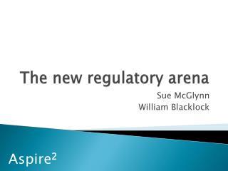 The new regulatory arena