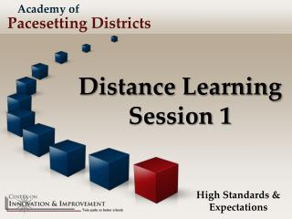 Distance Learning Session 1