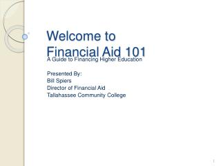 Welcome to Financial Aid 101
